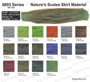 SILICONE SKIRT TABS/MATERIAL - 8803 Nature's Scales Series