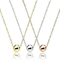 Set of 3 925 Silver, Yellow & Rose Gold Flashed Polished 7mm Ball Bead Necklace