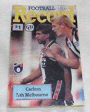 1990 AFL Football Record Carlton Blues v North Melbourne Vol.79 No.6