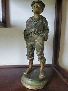 Victor Szczeblewski Patinated spelter Sculpture, Le Siffleur