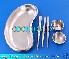 Surgical Stainless Steel Cup And Forceps And Kidney Tray DS-657