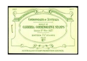 MAD101) Australia 1977 Canberra Commemorative Stamps Booklet MUH