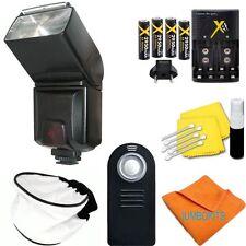 PRO FLASH + REMOTE + CHARGER + BATTERIES FOR NIKON D3000 D3100 D3200 D90