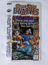 Spielanleitung - Manual - für Three Diry Dwarves Sega Saturn NTSC/US - near mint