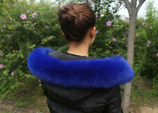 Womens real Fur Coat Jacket Hooded Collar Scarf Shawl Wrap Stole Neck 70*12cm