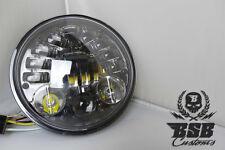 """LED SCHEINWERFER 5 3/4"""" schwarz, Standlicht und Blinker Harley Davidson Softail"""