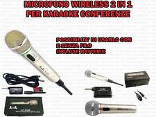 MICROFONO WIRELESS KEK AT 309 2IN1 CON E SENZA FILO PER KARAOKE CANTO CONFERENZE