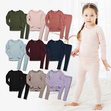 """Vaenait Baby Toddler Kids Girls Modal Clothes Sleepwear """"Shirring Set"""" 12M-7T"""