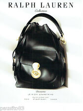 PUBLICITE ADVERTISING 066  2015  Ralph Lauren collection sac  Ricky  Drawstring