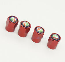 4x Red Car Accessories Wheel Cover Tire Valve Stem Caps Logo for Alfa Romeo