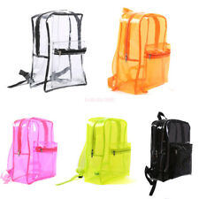 Women Clear Transparent Large Backpack Stadium Security School Book Bag Travel