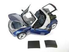 Smart Roadster in blau bleu blu blue metallic / silber silver, Kyosho in 1:18!
