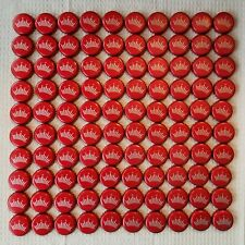 100 Budweiser Twist Off Red Beer Bottle Caps with Crown No Dents
