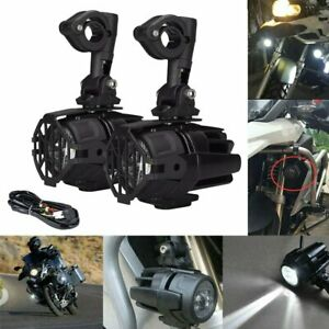 Pair Motorcycle LED Fog Auxiliary Light Driving Lamp 40W For BMW F800GS R1200GS