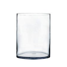 "16"" H x 10"" D Glass Cylinder Large Centerpiece Vase Clear"