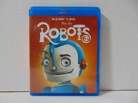 Robots Blu-Ray & DVD Disc Animated Movie Ewan McGregor Mel Brooks Family Fun!