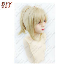 Anime Hair Fate / stay Night Saber Lily Costume Wavy Blonde Short Wig Cosplay