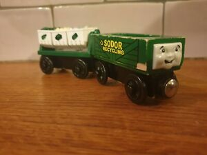 Sodor Recycling cars and bins Thomas & Friends Wooden Railway Train BRIO