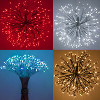 LED Christmas Starburst Lighted Outdoor Branches Multi Functional Light Ball