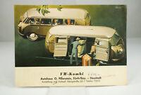Bulli VW T1 Kombi Transporter Bus Prospekt 1953 Oldtimer Vintage Broschüre