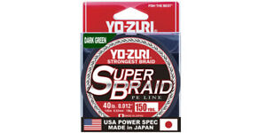 Yo-Zuri SuperBraided Fishing Line 10-80 lb 150Yd Blue Green Salt/Fresh Water 1A5