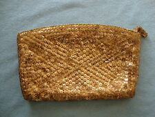 Vintage Gold Colored Sequin Clutch Purse La Regale