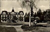 Badenweiler alte Ansichtskarte ~1950/60 Partie beim Hotel Römerbad ungelaufen