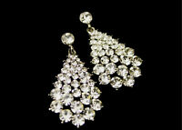 Drop Dangling Earrings With Swarovski Crystals, Gift Box