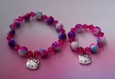 """Matching girl and doll beaded bracelets American Doll accessory 18"""" doll"""