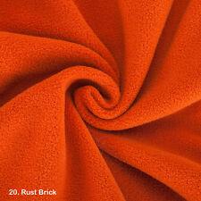 Polar Fleece Anti Pill Fabric Material, 21 Colours Cheap Price, Fat Quarters
