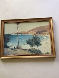 Holiday Sketch at Coogee by Tom Roberts Gold Frame Medium