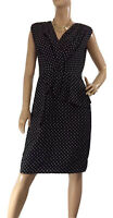 🌻 RIVETTE & BLAIR SIZE 12 FIXED WRAP PEPLUM STYLE POLKA DOT DRESS BNWT RRP $139