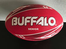 Brand New Buffalo Brand Premium Rubber Full Size 29cm Red/White Rugby Ball