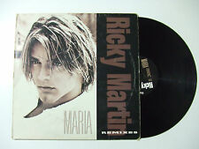 "Ricky Martin ‎– Maria (Remixes) - Disco Mix 12"" 33 Giri Vinile 1996 Latin House"