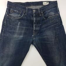 G-Star Raw 3301 Mens Jeans W33 L34 Blue Regular Fit Straight High Rise