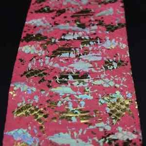 Spalash Snake Skin Hide Leather Snakeskin Craft Supply Metallic Pink