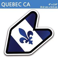 "4"" Quebec Canada Fleur-de-lis Fleurdelisé JDM Wakaba Leaf Flag Decal Sticker Car"