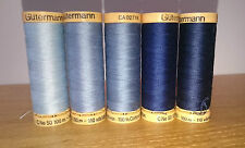 Gutermann Natural Cotton Sewing Thread 100m set of 5 - FN24 -  Blue (3)
