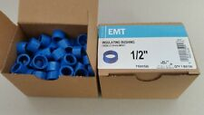 "Halex 1/2"" Emt non-metallic insulating bushing. 2 boxes/100 each Nib"