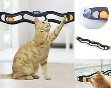 Cat Ball Toys Tunnel Track Interactive Pet Window Suction Funny Tower Play Disk