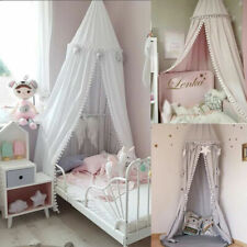 Kids Baby Boys Girls Princess Bed Canopy Mosquito Net Curtain Bedding Dome Tent