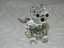 SWAROVSKI Austrian Lead Crystal Cat w/Metal Tail Figurine #7659 NR 031 000