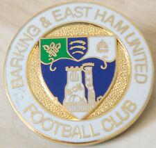 Barking & EAST Ham United FC Club Crest tipo badge spilla in dorati 26 mm Diam