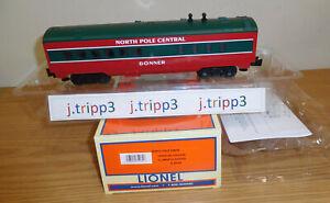 LIONEL 6-35135 NORTH POLE CENTRAL DINER PASSENGER TRAIN O GAUGE CHRISTMAS DONNER