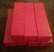 Lot of 7 Size 9x2x2 Red Storage Empty Box Boxes for 2x2 Coin Holders