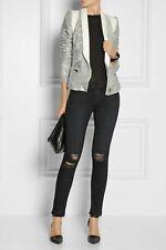 IRO Hadley sequin tuxedo blazer white leather & Silver sequin FR 38