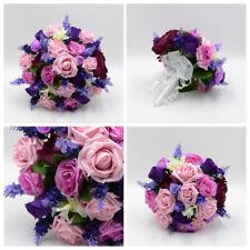 Silk Artificial Wedding Flowers Purple Antique Pink Ranunculus Lavender Package