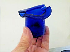 """Vintage Cobalt Blue Glass Top Hat Ash Tray Very Good - 2 1/2"""" tall"""