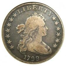 1799 Draped Bust Silver Dollar $1 Coin - Certified ANACS Fine Detail - Rare!