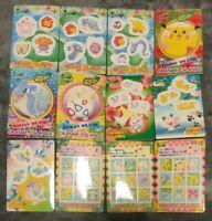 Bandai Pocket Monsters 1999 Pokemon Orange Islands Sealdass Stickers 12 Card Set